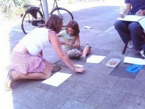 Tekenen op straat