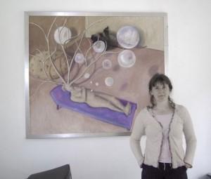Karin Opstelten met  droom-web